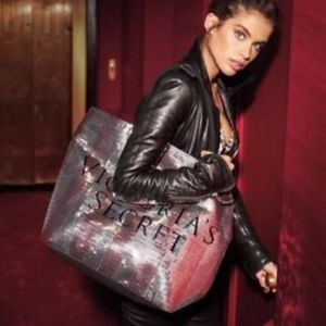 Victoria Secret Pink glitter tote Brand New